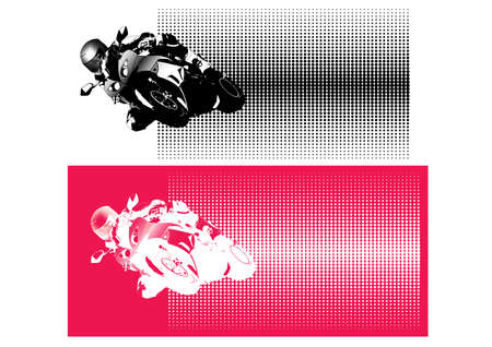 motorcycle sport Illustration