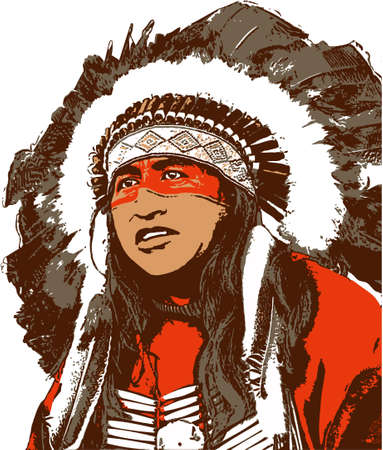 native Stock Illustratie