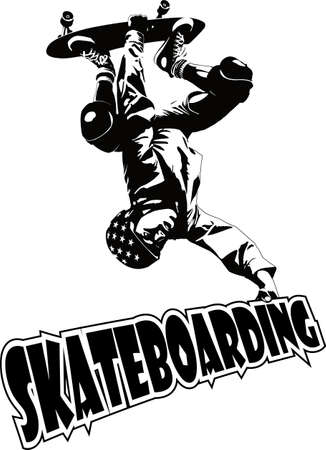 skateboarden Stock Illustratie