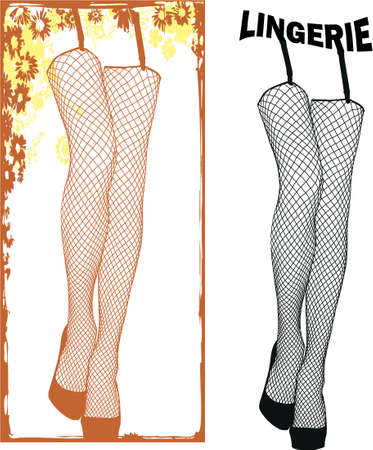 lingerie legs Stock Vector - 5285137