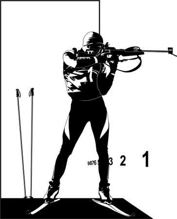 sports-biathlon Illustration