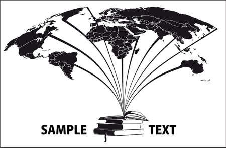 boeken en werelden 2  Stock Illustratie