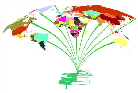 本と世界の色  イラスト・ベクター素材