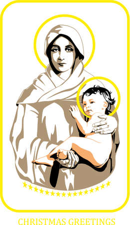 mary: Mary and Jesus Illustration