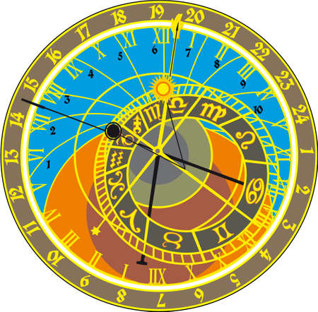 ancient clock Illusztráció