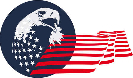 star spangled: eagle patriotic theme Illustration