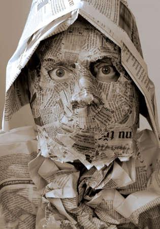 krant masker Stockfoto
