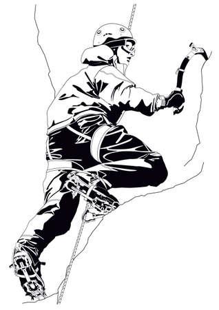 bergsteiger: Klettern Illustration