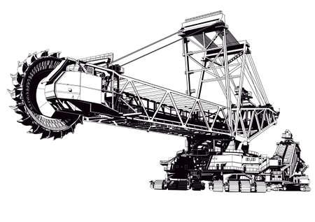 mining: bucket excavator