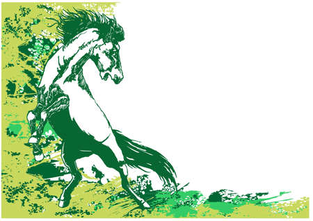 paard achtergrond Stock Illustratie