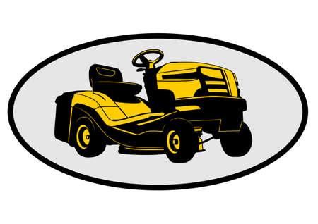 トラクター芝刈り機  イラスト・ベクター素材