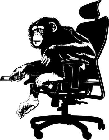 chimpansee: chimpansee mobiel