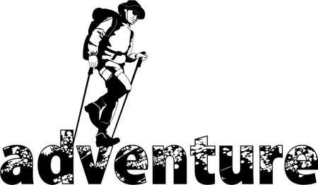 adventure walking Stock Vector - 10119866