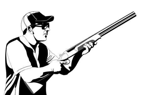 disparos en serie: skeet trampa