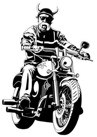 バイクに乗る人  イラスト・ベクター素材
