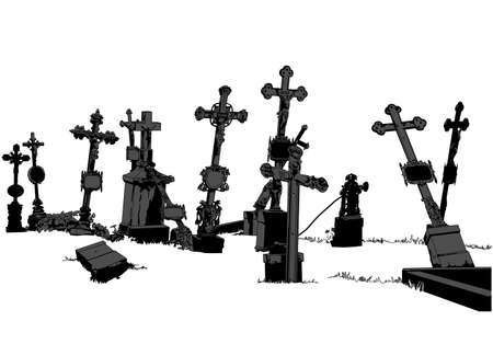 cemetery: cemetery Illustration