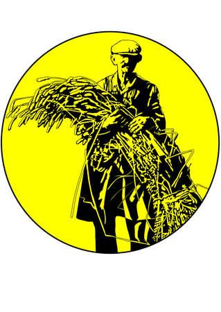 reap: farmer Illustration
