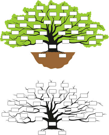 black family: family tree Illustration
