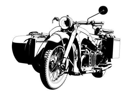 motorbike sidecar Stock Vector - 12151547