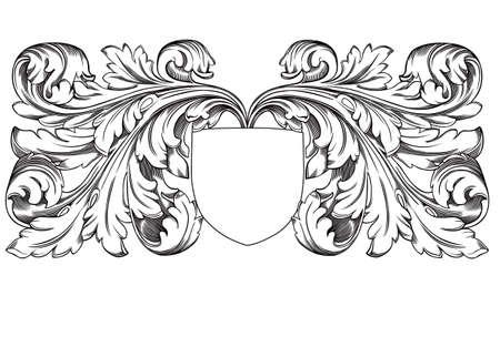 barok ornament: decoratie schild
