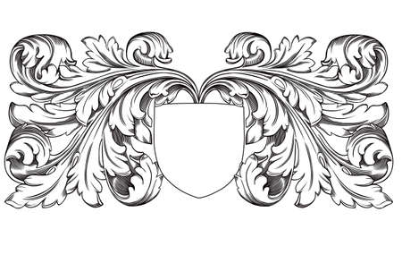 filigree background: decoration shield