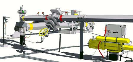 manometer: gas pipeline