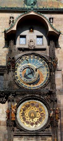 reloj de sol: reloj de la astronomía de Praga