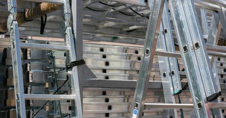 ladders aluminum Stock Photo - 13703234