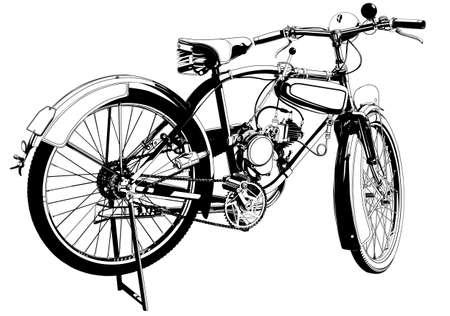 bike motor vintage Reklamní fotografie - 14099033
