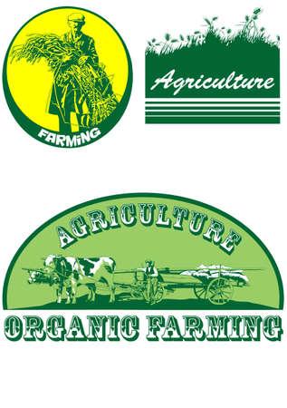 農業の記号  イラスト・ベクター素材