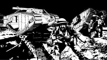 WW 1 の兵士  イラスト・ベクター素材