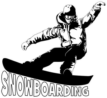 snowboarding Stock Vector - 16304620
