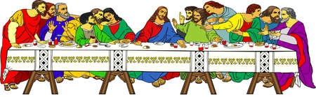 The Last Supper color Stock Vector - 16970301