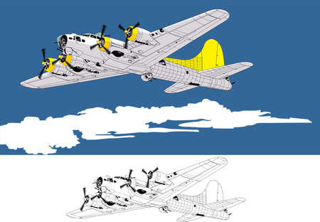 aircraft bomber: bomber Illustration
