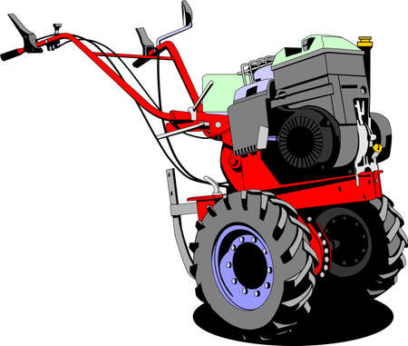 two wheel tractor  Vector