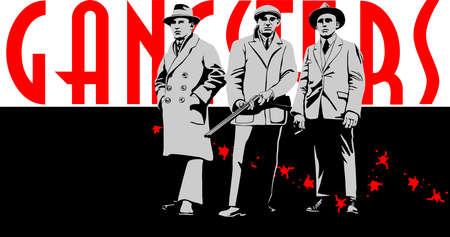 maffia gangsters Stock Illustratie