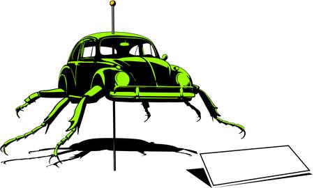 mutation: crazy beetle mutation Illustration