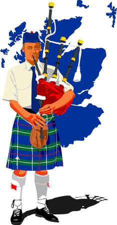 スコットランドのパイパー