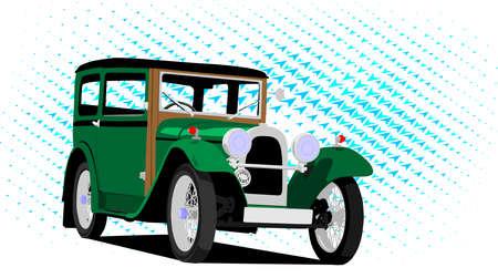 vintage car green Vector