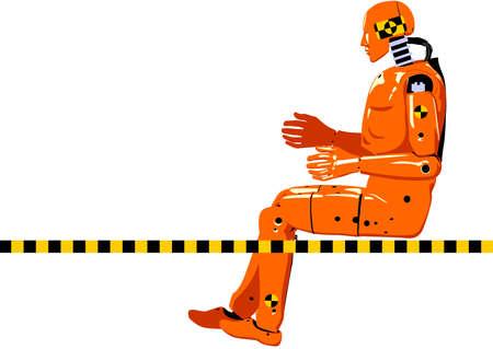 impacts: accidente maniqu� de prueba