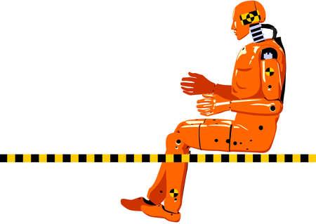 speed test: crash test dummy Illustration