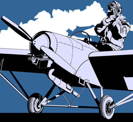 Pilot history of Aviation  Vector