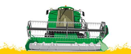 maquinaria: cosechadora de 2 Vectores