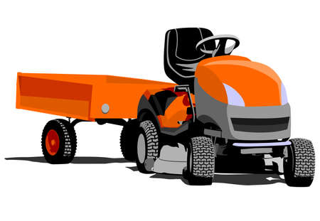 lawn tractor illustration