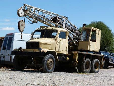 Truck crane scrapyard