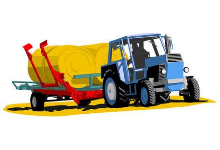 récolte de tracteur Vecteurs