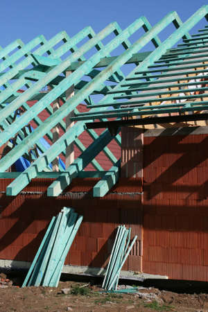 struts: roof trusses   Stock Photo