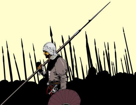 knight battle Ilustração
