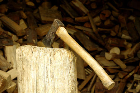 woodshed: ax in the woodshed