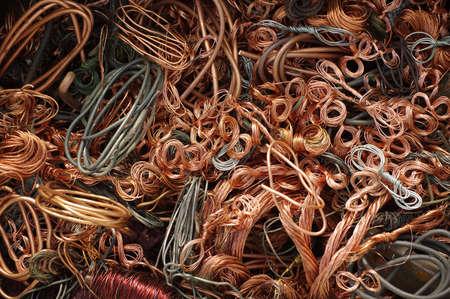 hilos de cobre backgrouns Foto de archivo